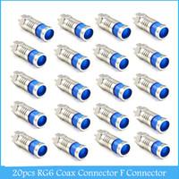 Wholesale Rg6 Coax Compression - 20pcs RG6 Coax Connector Compression Cable F Connector Coaxial F-Type Connector C348
