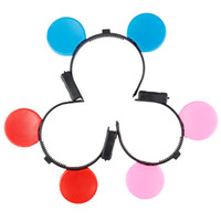 Wholesale Half Mouse - Cartoon Mouse Shining Color Girls Headband LED Flash Children Cosplay Headdress Hairpins Kids Birthday Gift 10pcs lot SD863