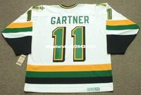 vendita all'ingrosso personalizzato Throwback Mens MIKE GARTNER Minnesota North Stars 1989 CCM Vintage Home Cheap Retro Hockey Jersey