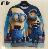 Wholesale Cute Fashion For Men - w20151222 [Mikeal] New fashion 3d sweatshirt for men women 3d hoodies printed Cute cartoon Animation Characters casual hoody W166