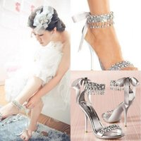 Wholesale Hot High Heels Sandals - New Fashion High Heels Silver Rhinestone Shoes Wedding Shoes Sandal Bridal Shoes Simply Elegant Shoes Hot Selling