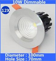 yeni tavan armatürleri toptan satış-Yeni Gömme Dim led downlight COB 10 W LED Spot işık led tavan ışıkları lamba AC110V 220 V soğuk / sıcak beyaz downlights ücretsiz kargo
