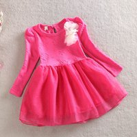 Wholesale Knee Length Glitter Dresses - 2015 Spring New Arrivals high quality Girl Children short sleeved Jacquard glitter Sprayed gold yarn Princess Dress kids tutu dress C001