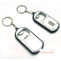 Wholesale Vintage Torch - 2015 Hot New Arrival Creative Vintage 3 in 1 LED Flashlight Torch Keychain With Beer Bottle Opener Key Ring Chain Keyring 500pcs