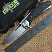 Wholesale V Bearings - Green Thorn Bear Dark V Titanium + G10 handle D2 blade ball bearing folding knife camping hunting outdoors knives EDC tool