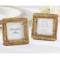 Wholesale Frames Wedding Favors - Event & Party Supplies Wedding Favors of Gold Feather Photo Frame Place Card Holder 50pcs Wholesale birthday favors