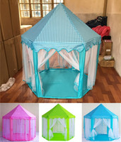 Wholesale Outdoor Family Activities - Portable Toy Tents Princess Castle Play Game Tent Activity Fairy House Fun Indoor Outdoor Sport Playhouse Toy Kids Xmas Gifts MK154