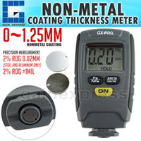 Wholesale Digital Paint Coating Thickness - GX-CT01 Paint Coating Thickness Tester Digital Gauge Meter Instrument 1.25mm Iron Aluminum Base Metal Car Automotive