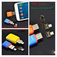 Wholesale Usb Micro Card Apple - Micro USB OTG adapter Converter turn into Cell phone usb flash drive,U disk card reader,Connect the KeyBoard,mouse for Samsung HTC Android