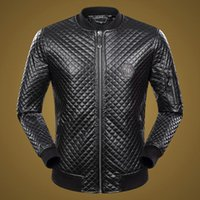 Wholesale Leather Jackets Punk Style Men - Hot Top man Fashion Desinger Faux Leather Punk jacket Rhinestone P9065-9082 Coats PU Leather Slim fit Sporty Style Men Casual Jacket M-3XL