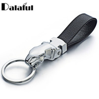 Wholesale leather key chains for cars - Metal Leopard Head Leather Key Chains Rings Holder For Car Keyrings KeyChains For Man Women High Quality Gift K262