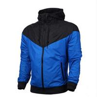 erkek giyim markası toptan satış-Logo Sonbahar Spor Fermuar windcheater Tasarımcı Erkek Giyim Artı boyutu Hoodies ile Marka Kazak Hoodie Erkekler Kadınlar Ceket Coat Uzun Kol