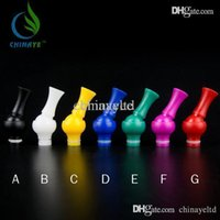 Wholesale Ego Ce Drip Tip - Rotating 360 Degree Drip Tip Knuckle Head Drip Tip Ego Bright Mouthpiece for protank vivi nova BCC DCT CE Atomizer Electronic Cigarette