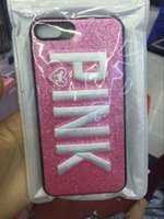 2017 Fashion Design Glitter 3D Ricamo Love Pink Phone Case per iPhone X, iPhone 8, 7, 6 Plus nuova cover telefono caldo Bella alta qualità