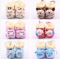 Wholesale Kids Shoes Animals Head - Free shipping!Multicolor animal head coral fleece toddler shoes,warm cartoon baby shoes, walker shoes,floor kids snow boots.9pairs 18pcs.ZH
