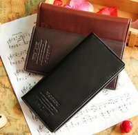 Wholesale Cheap Clutch Purses Leather - Cheap Hot sale Leather men's Long Wallet Men Pockets Card Clutch Bifold Purse Coin Holder large capacity wallet DHL Free