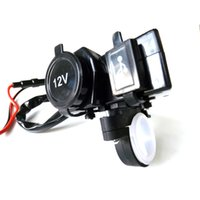 Wholesale Powering Scooter - Waterproof Motorcycle Scooter Cigarette Lighter Power Outlet Socket USB Splitter Motorcycle Port Charger 12V 2.1A