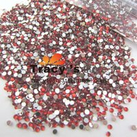 Nail Art Strass 20000pcs / pack 2mm SS6 Crystal Red glitter Clear Color acrilico Pietre della Decorazione posteriore piana unghie in gel