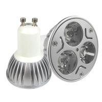 Wholesale Smd Lamps Socket - 85-265V 3x3W 9W GU10 Socket CREE LED Downlight Bulb Lamp Light Warm White Cool White
