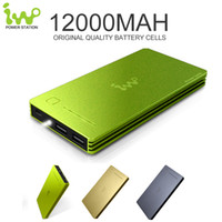 Wholesale Iwo Power Bank - Perfect Quality iWo Stylish 12000mAh Mi Power Bank Powerbank Portable External Battery Charger For iPhone For Xiaomi For Samsung