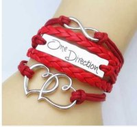 Wholesale One Direction Bracelets Cheap - 10pcs lot 10 color to choose One Direction Cheap Girl Jewelry Pulseira Digital Infinity Bracelets For Women Bangle Free Shipping