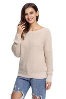 Pullover invernale Cross Back Pullover lavorato a maglia Pullover lavorato a maglia manica lunga donna