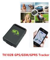 mini carros espiões venda por atacado-Mini Spy Car Pessoa Pet Ímã À Prova D 'Água GPS GSM GPRS Rastreador Veículo Real tempo TK102B Dispositivo de rastreamento GPS