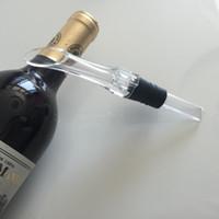 ingrosso barra di scarico-Aeratore per vino rosso beccuccio versatore in plastica trasparente per aerare versatori per decantatore strumento per bar resuable semplice eco friendly 5yk B R