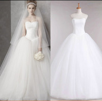 Wholesale New Style Sexy Strapless - new Spring and Summer 2015 hot fashion girl princess brand bridal dress sexy lace up apparel the style formal wedding dresses