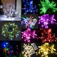 Wholesale 1m Purple Fairy Lights - Two Display Modes Multicolor 1M 10 LED String Light With Battery Box,Fairy Light 9 colors