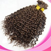 Wholesale Grade 5a Unprocessed Hair - Grade 5a virgin brazilian deep wave hair 100g set 3pcs lot no weft human hair bulk for braiding unprocessed hair products dhl free