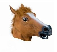 Wholesale Wholesale For School Supplies - Animal Masquerade Mask Creative Design Horse Head Vizard Masks Theater Prank Prop For Halloween Party Supplies 15hj C