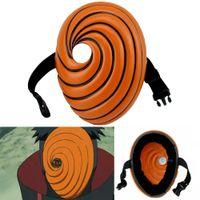 masks al por mayor-Naruto Obito Máscaras de Anime Máscara Tobi Uchiha Cosplay Disfraz Película Prop. Réplica FJKS5896 (SKU40490)