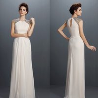 Wholesale Prom Dresses Free Shopping - personalized Crew prom dresses Chiffon Fold Custom Made Sequins Beaded hollow No Risk Shopping Free Shipping part dresses 4063