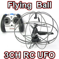 Wholesale 3ch Radio Control Helicopter - Free shipping 3CH RC remote radio control mini Flying fly 777-286 UFO ball quadcopter drone helicopter toy