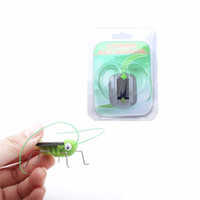 Wholesale Solar Powered Crickets - Solar Power Grasshoppe Toy Children Crazy Grasshopper Cricket Kit Toy