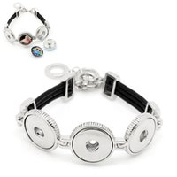 ingrosso si accende il pulsante-Cera Toggle Toggle Clasp snap button bracelet Fit Press Snap Buttons Gioielli fai da te 24cm