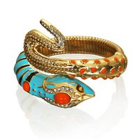 Wholesale Anna Dello Russo - Wholesale-Anna dello russo adrhm blue rhinestone snake bracelet accessories