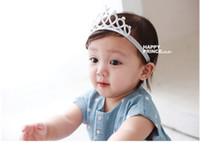 Wholesale Fashion Queen Hair - Snow Queen Glitter Crown Girls Headband Baby Fashion Hairband Tiara Princess Novelty New Silver Red Head Hair Accessories
