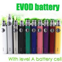 ingrosso serbatoi di sigaretta evod-Batteria EVOD di livello A batteria di alta qualità per EVOD BCC MT3 CE4 CE5 aerotank protank itank BVC BDC serbatoio di vetro Atomizzatore elettronico per sigaretta elettronica