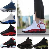 (withbox) air retro 13 black cat GS Bordeaux allevato Hyper Royal oliva Wheat DMP Chicago uomo donna basket shoes 13s sports Sneaker 36-47
