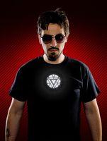 Wholesale Led T Shirt Wholesale - 2015 Cool Iron Man T-shirt with Voice Control EL Flashing LED Women Men Summer Team Uniform Casual Short-sleeved Black Tops Tee F068 10p