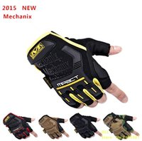Mechanix Mpact Pas Cher-Gros-2015 New Mechanix Wear mpact tactique militaire Combat Moto Vélo Motorcross Fingerless Half Finger Gloves