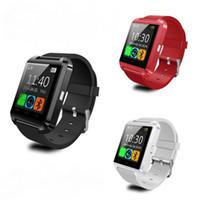 телефоны s4 оптовых-Bluetooth Smart U8 часы Наручные часы для Samsung S4,S5, S6 edge Примечание 3,4 HTC Android телефон бесплатная доставка