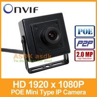 Wholesale Hd Onvif - Free Shipping!! POE HD 1920 x 1080P 2.0MP IP Camera Indoor Mini Type Security Camera ONVIF P2P IP CCTV Cam