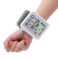 Wholesale Digital Health Pressure Meter - Automatic Digital LCD Portable Wrist Blood Pressure Meter Health Pulse Monitor Measurement Sphygmomanometer with Voice Function H14153