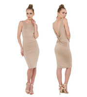 Wholesale Lady Dres - 2015 Women's Sexy Draped Dresses Backless Night club dress Summer modal tight dres plus size lady dress