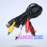 Al por mayor-10pcs a estrenar S-vídeo SVHS Video Audio RCA Cable AV para Dreamcast DC