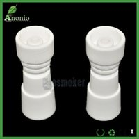 Wholesale Smokers Accessories Wholesale - wholesale Domeless Ceramic Female Nail 14mm & 18mm Chinese Ceramics Nais Banger Nail for Vaporizer Vaping Ceramic E Naill Smoker Accessories
