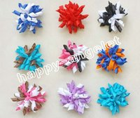 Wholesale Bobble Free - free shipping baby girl 2.5'' 12pcs korker hair bows clips mix hundreds color korker corker hair bobbles Prevalent hair ties PD007